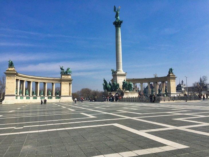 Heros square budapest roseanna sunley travel blog