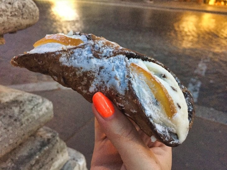 cannoli in rome roseanna sunley travel blog