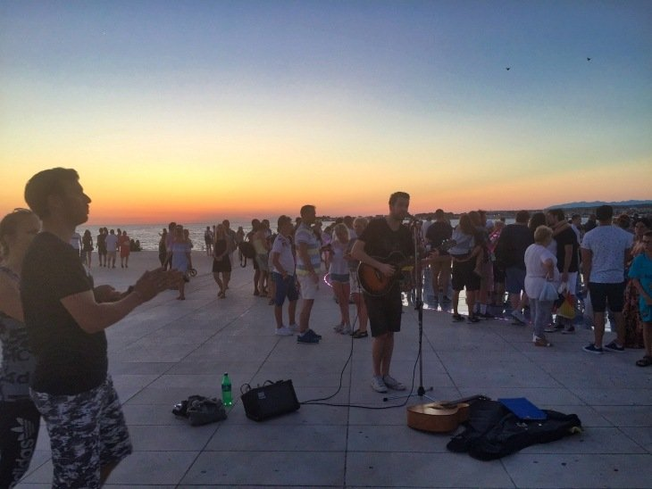 roseanna sunley travel blog sunset zadar croatia