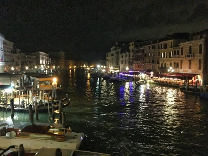 venice at night roseanna sunley travel blog