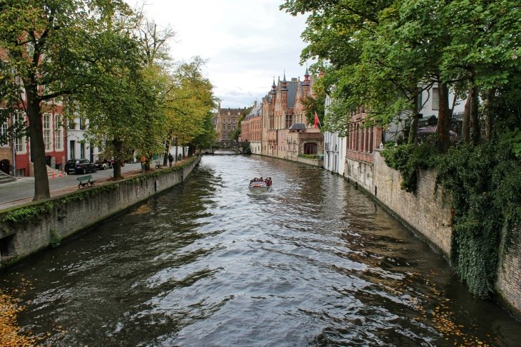 canal boat ride bruges roseanna sunley travel blog