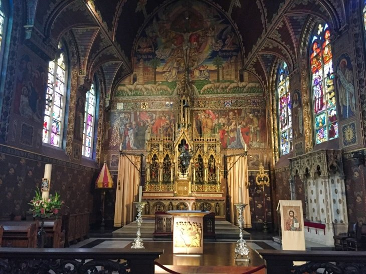 inside basilica of holy blood roseanna sunley travel blog