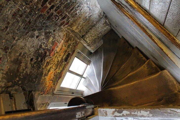staircase belfry bruges roseanna sunley travel blog