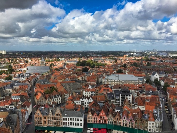 view from belfry bruges roseanna sunley travel blog