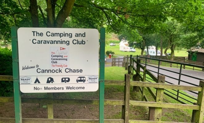 cannock chase camping and caravanning club
