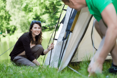 Tips when pitching a tent roseanna sunley adventure and travel