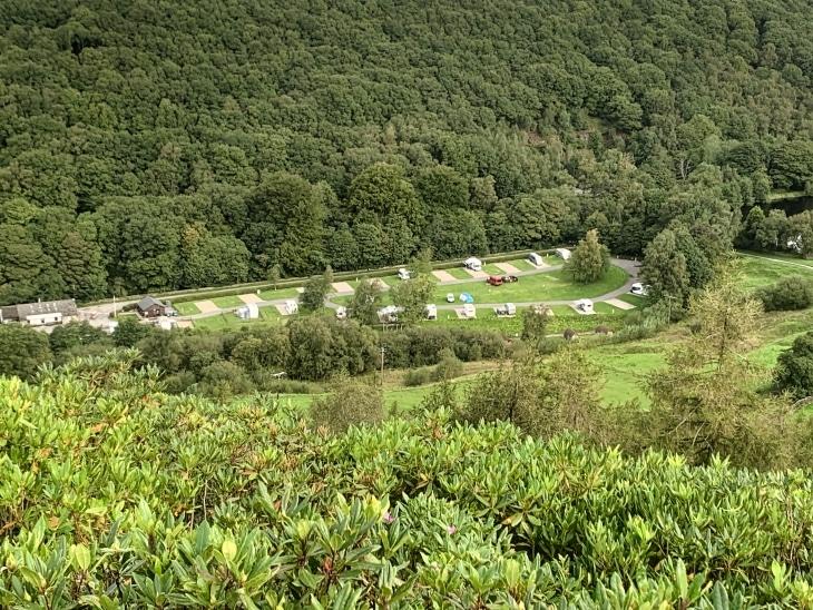 campsite at hayfield