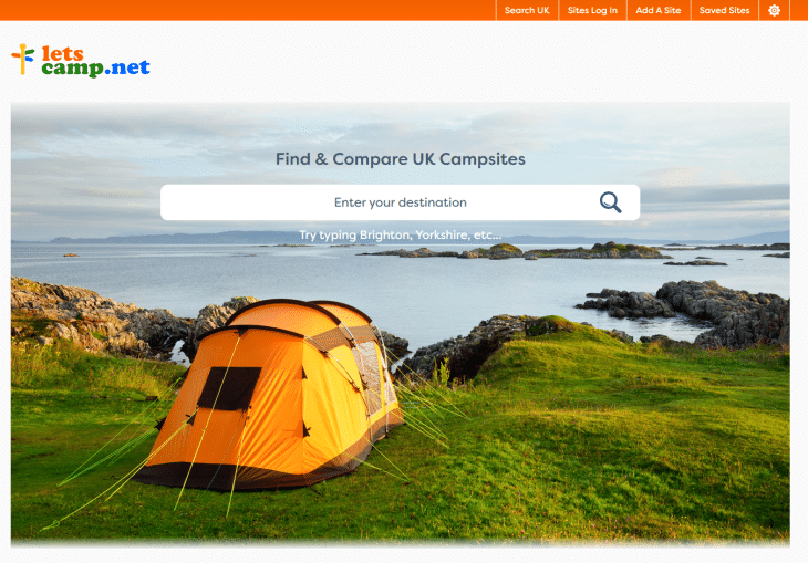 Lets camp booking website
