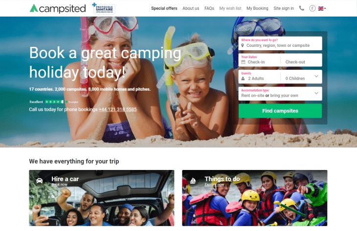 campsited booking website